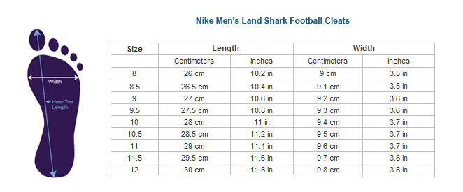 Width Shoes Measurement Men Nike
